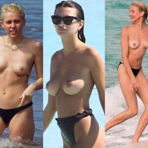 Nude Celebrities at beach