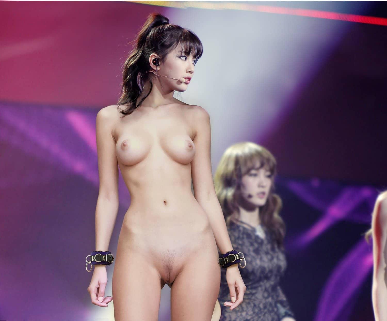Korean Celebrity Nude on stage